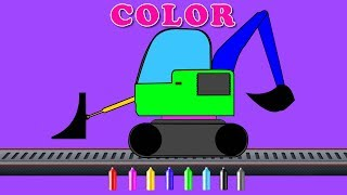 Loader Learn Colors | Coloring Video For Kids