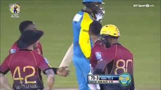 Samuels beautifully bowled by Narine #CPL 2017