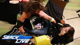AJ Styles drives Daniel Bryan through a concessions table: SmackDown LIVE, Jan. 15, 2019