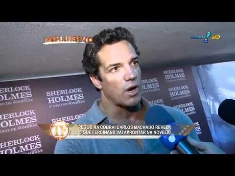 Carlos Machado na webcam