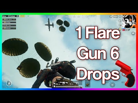 OMG 1 FLARE GUN AND 6 SPECIAL DROPS ALL SERVER CAME TO KILL US PUBG MOBILE FUNNY MOMENTS