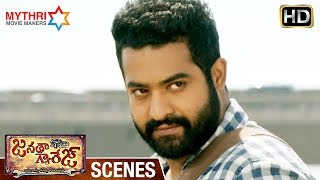Jr NTR Stylish Fight | NTR Powerful Dialogues | Janatha Garage Telugu Movie Scenes | Mohanlal