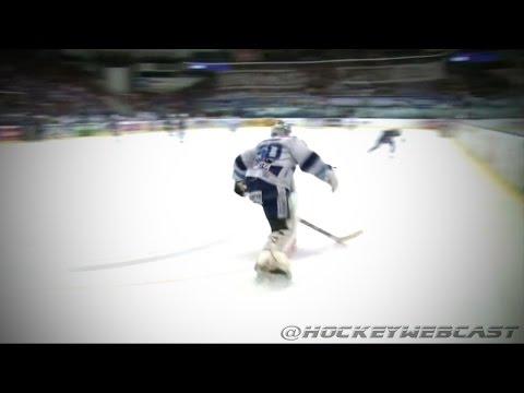 Goalie Karel Vejmelka Flips Tomas Svoboda - Czech Extraliga (HD)