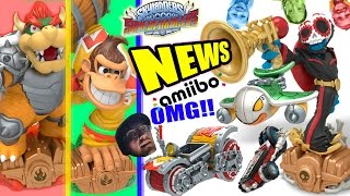 DONKEY KONG & BOWSER SKYLANDERS SUPERCHARGERS AMIIBO! + FIESTA & CRYPT CRUSHER