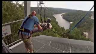 Harzdrenalin Megazipline - Seilrutsche an der Rappbodetal-Staumauer