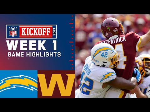 Chargers vs. Washington Football Team Week 1 Highlights NFL 2021
