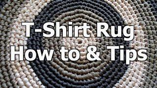 Crochet T Shirt Yarn Rug - How to & tips - Crochet Tutorial