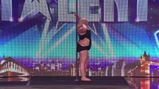 ▶Fat Lady on pole dancing masterclass - Britain's Got Talent 2014