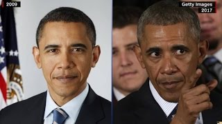 Before and after photos of presidents