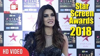 Kriti Sanon At Star Screen Awards 2018 | Star Plus Awards Show 2018