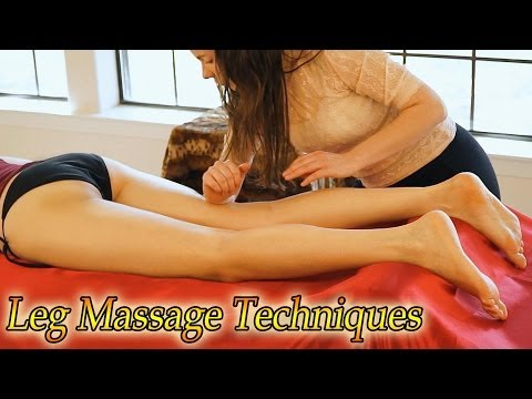 Swedish Massage Therapy How To Massage Legs & Hips ASMR Relaxation