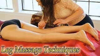 Swedish Massage Therapy, How To Massage Legs & Hips - ASMR Relaxation