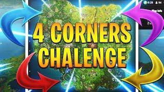 4 CORNERS CHALLENGE! FORTNITE BATTLE ROYALE