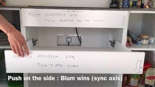 Blum Legrabox Tip-on Blumotion VS Hettich Arcitech Push To Open Silent