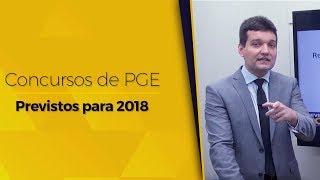Concursos de PGE - Previstos para 2018