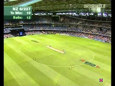 New Zealand humiliate Australia GREAT FINISH Melbourne 2004 1st Chappell Hadlee match