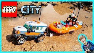 Lego City Coast Guard 4X4 Response Unit Rescue!