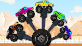 Monster Truck | Finger Family | Vehicle for Kids