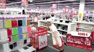"13104 € in 120 seconds ""Crazy Shopping"" by Media Markt Gosselies (Belgium)"