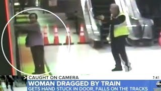 """Video Shows """"A Near Deadly Subway Accident After A Woman Gets her Hand Stuck In A Train!"""""""