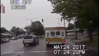 Video shows Pontiac slamming into city bus