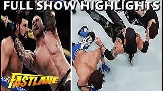 WWE 2K18 FASTLANE 2018 FULL SHOW PREDICTION HIGHLIGHTS