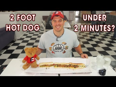 Xxx Mp4 MegaDog 2ft Hot Dog Record Challenge In 2 Minutes 3gp Sex