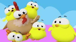 Beş Küçük Civciv | Mini Anima Çocuk Şarkısı | Küçük Çocuklar Sayıları Öğreniyor