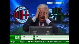 Diretta Stadio 7Gold Milan Sassuolo 2-1 SerieA Crudeli contro Tarozzi