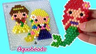 Conjunto Aquabeads Princesas Disney Toysbr Pequena Sereia Ariel e Princesa Bela Brinquedos ToysBR