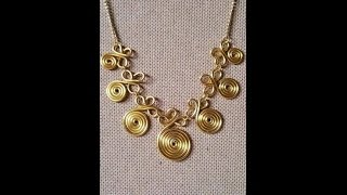 Wire Wrapping Jewelry Tutorial - How to Make Wire Wrap Necklace +   Tutorial .