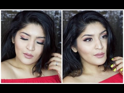 Nude With a Pinch Of Spice Makeup Tutorial | Neutral Fall Look For Indian Skintone