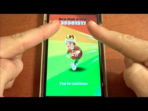 Over 35 Million Points on Subway Surfers! NO HACKS OR CHEATS!