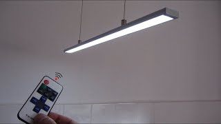 How to make LED profile strip ceiling lamp wireless remote