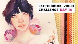 Watercolor Portrait | Sketchbook Video Challenge: DAY 18