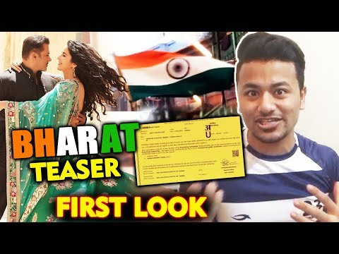 BHARAT TEASER FIRST LOOK Revealed | Salman Khan | Katrina Kaif
