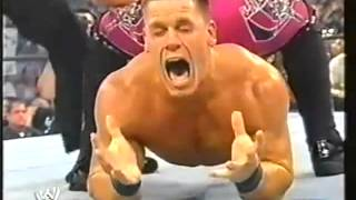 WWE John Cena Taps Out To Chris Jericho-Smackdown 2002 HD.flv