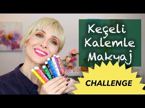 KEÇELİ KALEMLE MAKYAJ Challenge | Sebile Ölmez