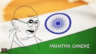 Easy Mahatma Gandhi Drawing for Kids | Kids Learning Video | Shemaroo Kids