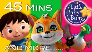 The Fox | Plus Lots More Nursery Rhymes | 45 Minutes Compilation from LittleBabyBum!