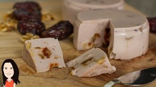Make Your Own Date and Walnut Vegan Cheese - Oil Free Recipe!