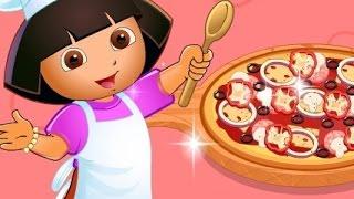 دورا الطباخة ( طبخ بيتزا دورا ) العاب كرتون للاطفال كاملة