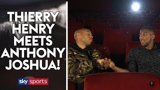 Thierry Henry meets Anthony Joshua!