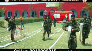 Hose Drill at Haryana College of Fire & Safety Management India