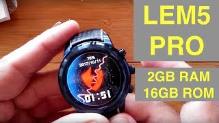 LEMFO LEM5 PRO 2GBRAM/16GBROM Smartwatch: Unboxing & Overview