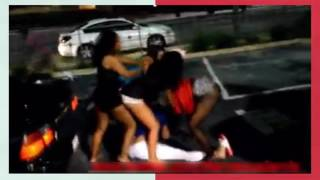 Super fight of prostitutes on the street -real street fights