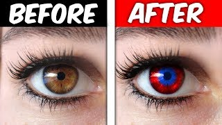 CHANGE YOUR EYE COLOR TRICK! (IT WORKS OMG)