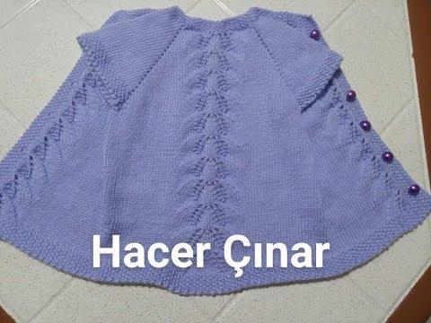 Yaprak Ajurlu Yelek Yapılışı   knit baby vest