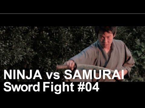 Sword Fight Scene - Japanese Ninja vs Samurai Battle Action #04