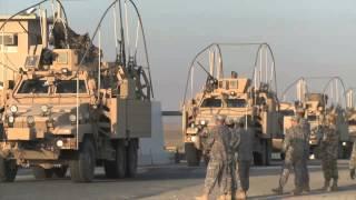 IRAQ - KUWAIT BORDER!  Last U.S. Troops Cross Border, Leave Iraq!